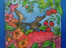 """Illustration nr 3...""""doften av blommor...""""  (akvarell)"""